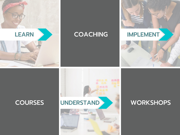 Learn. Understand. Implement. Services of My Marketing University include Coaching, Courses, and Workshops